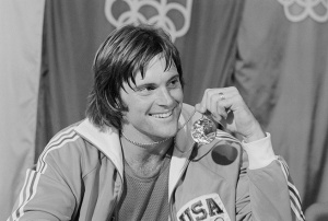Original caption: USA's Bruce Jenner, San Jose, CA., displays the gold medal he won in the Olympic decathlon here 7/30. (Copyright Bettmann/Corbis / AP Images)